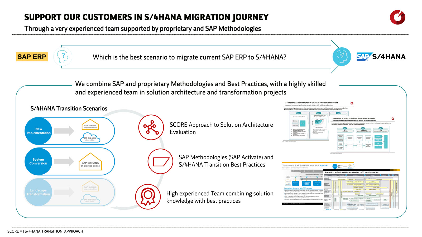 The best scenario to migrate current SAP ERP to S/4HANA
